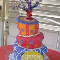 The Big Cake (Disaster) Well here it is, for better or worse, my first HUGE topsy turvy cake, which I delivered yesterday. An hour after this picture was taken,...