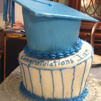 My First Topsy-Turvy Cake Here is a cake made for a co-worker who received his MBA this week (nice kid). This was actually practice for my real big job next weekend...
