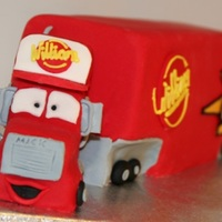 Mack From Cars :-)   Seriously fun cake to make :--)