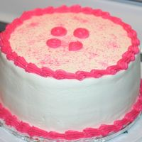 Quick Pink Cake Three hour notice for a cake for our moms group. This is one I made a few weeks ago when taking course 1.