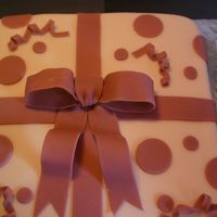 Course 3 First Fondant This is my first fondant cake!! It is also my first square!