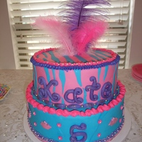 "Fancy Five Year Old Cake designed with the birthday girl in honor of ""Fancy Nancy"", a storybook character."