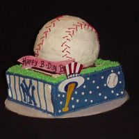 Go Yankees!! Birthday cake for a 14 year old boy who loves the New York Yankees.