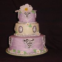 Elegant Zebra This was for my Mom's 50th birthday. Her favorite colors are lavender and light green. She also loves animal prints. I felt this cake...