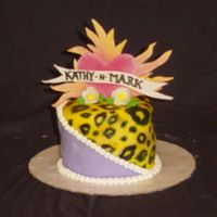 Leopard Wedding This cake accompanied the main wedding cake. I wanted the bride to have something that represented her funkiness. She has lots of tattoos...