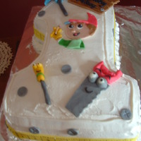 Handy Manny For my friends son's first birthay. All accents made out of fondant.