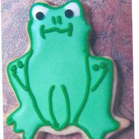 Frog Cookie For Baby Shower Thank You Package This is just one of 7 designs I did for a baby shower thank you package.No fail sugar cookie recipe with royal icing decoration. Kathy