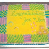 Baby Blanket Cake For Baby Shower This cake was fun. It is vanilla buttercream with lemon filling. The 3 little baby faces were made with fondant as were the 3 sets of...