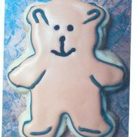 Teddy Bear Shower Cookie This is 1 of seven cookies for a baby shower.