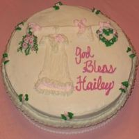 Baby Dedication Dress Made with buttercream icing. The mother was very pleased!!