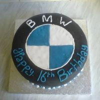 Bmw Cake  This cake was for my godbrother who's obsessed with bmw cars. He nearly cried having to cut it. It's a fruit cake covered in...