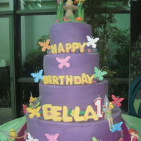 Tinkerbell Cake iced in buttercream...toys as decor...thanks for looking! :)