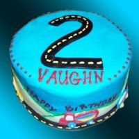 Vaughn's 2Nd Buttercream with fondant accents.
