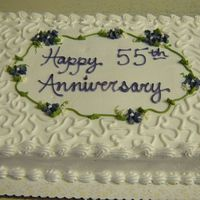 55Th Anniversary All Buttercream sheet cake