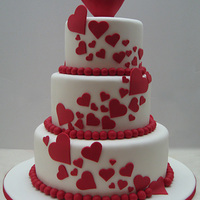 Love Is In The Air   Valentine 3 tier cake