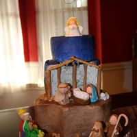 My Try At A Nativity Cake
