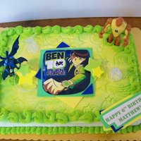 Ben Ten Ben Ten buttercream airbrushed imprinted with impression mat.