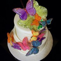Butterfly Rainbow Wedding Design inspired by Cake featured on the cover of Martha Stewart Weddings Magazine. Some butterflies purchased some edible RI.
