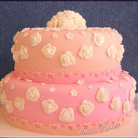 Naama's Bat Mitzvah Fondant covered cake, made it for a very dear friend's daughter