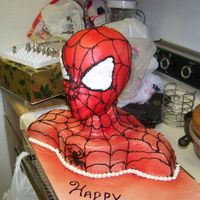Spidey Man This is the spider man i did for my cousins birthday party. He said it was the3 bestest cake he has ever had.... i have a way to go on my...
