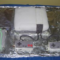 Nintendo Entertainment System   Mint Chocolate Chip cake decorated with fondant.