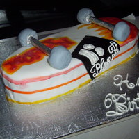 Skate Board Cake Birthday cake for friends' son's birthday.