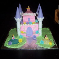 Castle Cake Another simplified castle cake for friends daughter's birthday