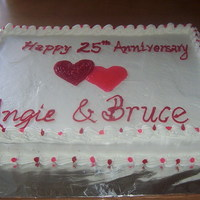 Anniversary Cake Made for my sister & brother-in-law for their 25th wedding anniversary