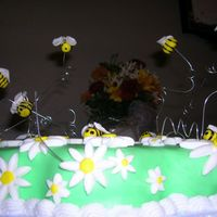 Bees And Daisies  This is the cake my friend and I made for my Birthday. Tragic I know that I had to make my own cake :-) It was our first time with MMF. The...