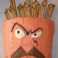 Frylock This cake was a NIGHTMARE! I tried to many new things on it and it just fell apart. The lemon curd I made was too runny so the bottom the...