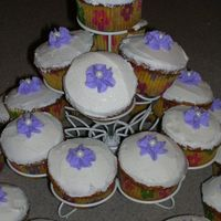 First Cupcake Tree I did these little cakes for the women in my church. We had a potluck so I thought I would bring one of my favorite things CAKE! I didn&#...