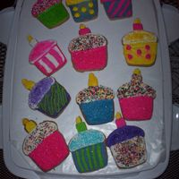 Birthday Cookies This was my first attempt at iced cookies. I saw how cute the pictures were that other's on CC had done so I figured I'd give it...