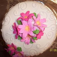 Top View Of Pink Lillies I wanted to post this to show the lillies a little closer and also the scroll work.