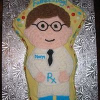 Father's Day Pharmacist Cake Buttercream icing with mmf pills