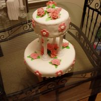 Tier My First Attempt at a tiered cake