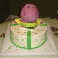 Barney RKT Barney. BC and fondant accents.