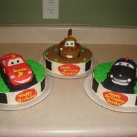 Cars Characters are RKT covered with fondant.