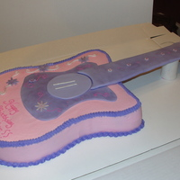Guitar Buttercream with fondant accents