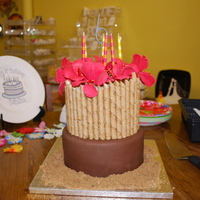 Luau Themed Cake i made this cake for my daughter's 6th birthday party. my tried and true (thanks to CC) WASC filled with cream cheese icing and fresh...