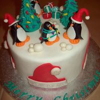 Christmas Cake Traditional fruit cake, marzipan and mmf.