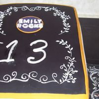 13't Birthday 12x18 cake fondant w/ fondant and royal accents