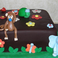 Jungle Baby Shower Cake All fondant