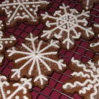 Snowflakes Made with gingerbread