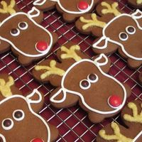 Rudolph Made with gingerbread