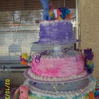 Ponys   I made this cake for my daughter's 5th B-day