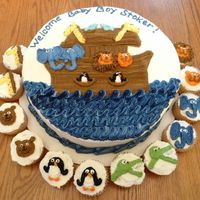 Noah's Ark With Cupcakes All butter cream piped animals.