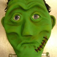 Frankenstine All fondant - This was the cake we learned to do with Bronwen Weber. It was so much fun to meet her and learn from her. She said Frank...