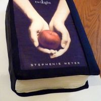 Twilight Book 3D Edible image on carved/stacked sheet cakes. Buttercream pages, fondant top. This was a hard onw to get to blend into the image due to the...