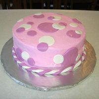 Polka Dots MMF dots/rope with bc frosting. For a friend's baby shower.