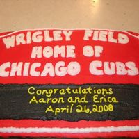 Wrigley Field A friend ordered this for her wedding rehersal dinner. The groom is a huge Cubs fan.